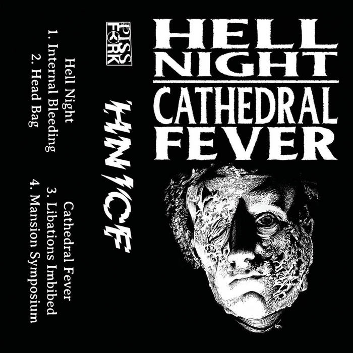 Hell Night Cathedral Fever Split cover art